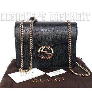 GUCCI new ICON crossbody INTERLOCKING G Chain Bag